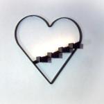 Väggljusstakar - Hjärta med fyra värmeljus.