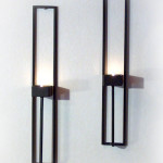 Väggljusstakar - Rektangulär väggljushållare för värmeljus.