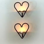 Väggljusstakar - Litet hjärta för värmeljus.