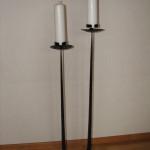 Ljusstakar - Golvljusstake för två grova ljus